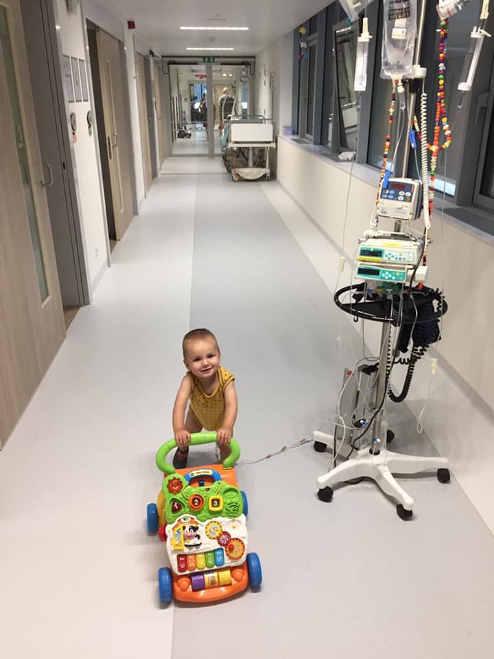 Mathis in het ziekenhuis