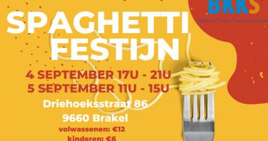 Spaghettifestijn ten voordele van BKKS